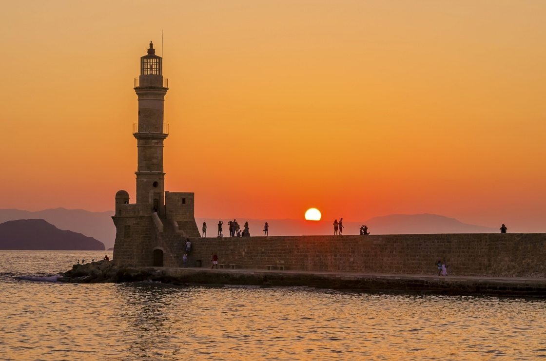 Lighthouse in Chania Crete